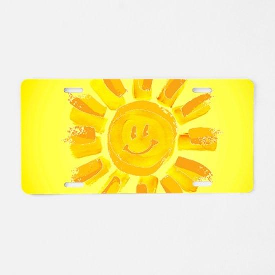 hAPPY SMILEY FACE SUNSHINE Aluminum License Plate