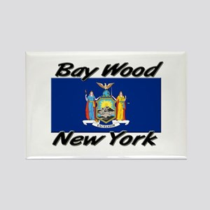 Bay Wood New York Rectangle Magnet