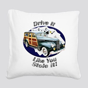 Packard Woodie Square Canvas Pillow