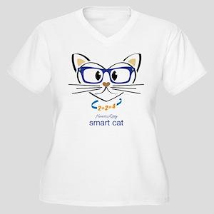 Smart Cat Plus Size T-Shirt