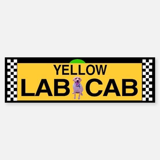 Yellow Lab Cab Bumper Bumper Bumper Sticker