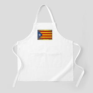 Grunge Catalan Flag Light Apron