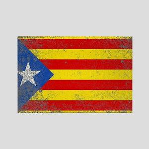 Grunge Catalan Flag Magnets