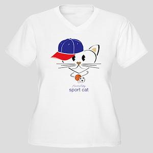 Sport Cat Plus Size T-Shirt
