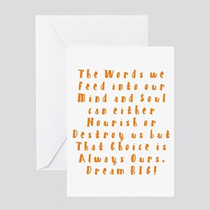 A Positive Meal Greeting Cards