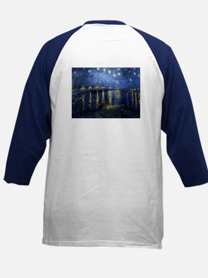 Starry Night Over the Rhone b Kids Baseball Jersey