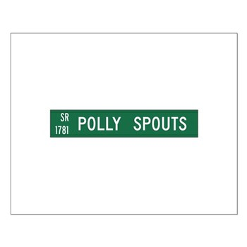 Polly Spouts, McDowell County (NC) Small Poster