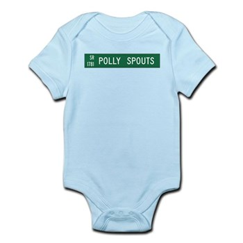 Polly Spouts, McDowell County (NC) Infant Bodysuit
