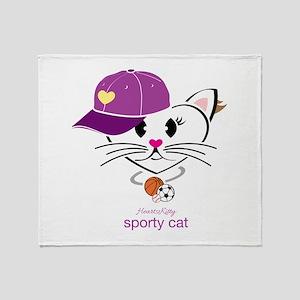 Sporty Cat Throw Blanket