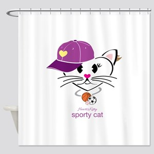Sporty Cat Shower Curtain