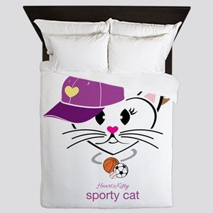 Sporty Cat Queen Duvet