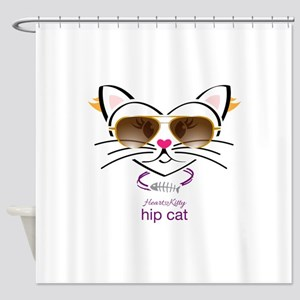 Hip Cat Shower Curtain