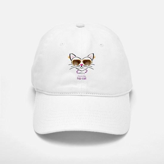 Hip Cat Baseball Baseball Cap
