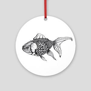 Goldfish Round Ornament