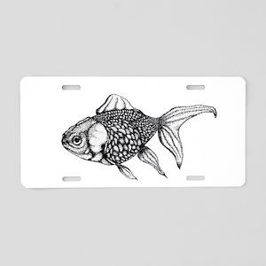 Goldfish Aluminum License Plate