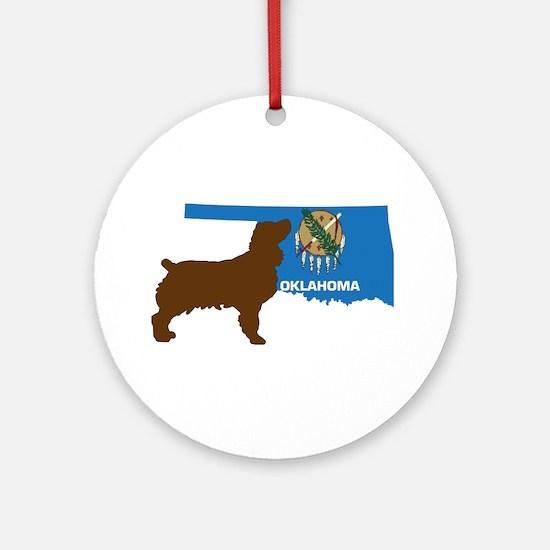 Oklahoma LBD Round Ornament
