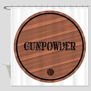Isolated Gunpowder Keg Shower Curtain