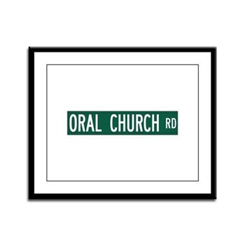 Oral Church Road, Sumrall (MS) Framed Panel Print