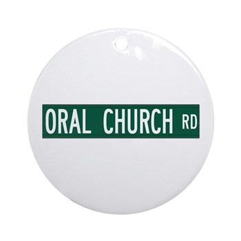 Oral Church Road, Sumrall (MS) Ornament (Round)
