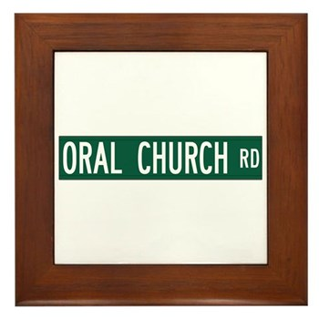 Oral Church Road, Sumrall (MS) Framed Tile