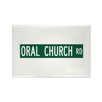 Oral Church Road, Sumrall (MS) Rectangle Magnet (1