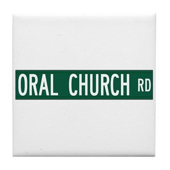 Oral Church Road, Sumrall (MS) Tile Coaster