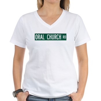 Oral Church Road, Sumrall (MS) Women's V-Neck T-Sh