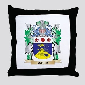 Catta Coat of Arms - Family Crest Throw Pillow