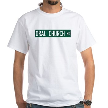 Oral Church Road, Sumrall (MS) White T-Shirt