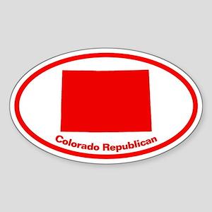 Colorado RED STATE Oval Sticker