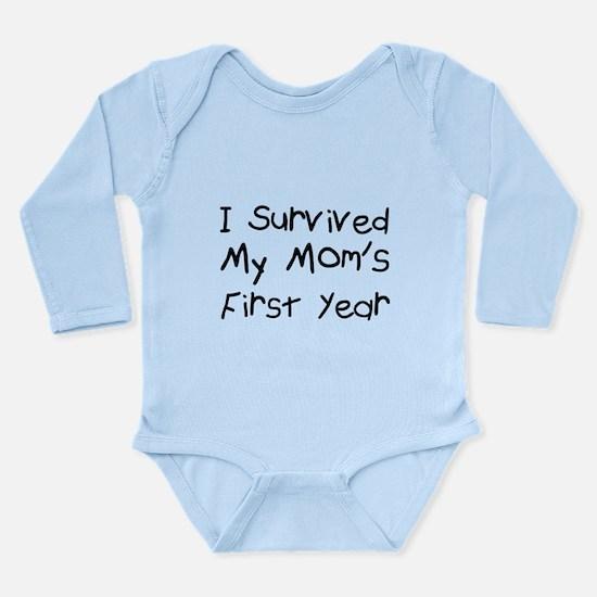 I survived my mom's fi Long Sleeve Infant Bodysuit