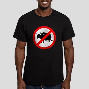 No bullshit Men's Fitted T-Shirt (dark)