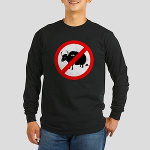 No bullshit Long Sleeve Dark T-Shirt