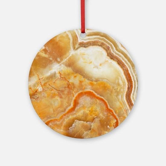 Beige Tones Marble stone Round Ornament