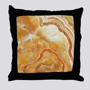 Beige Tones Marble stone Throw Pillow
