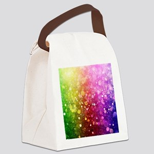 Vibrant Colors Colorful Modern Bo Canvas Lunch Bag