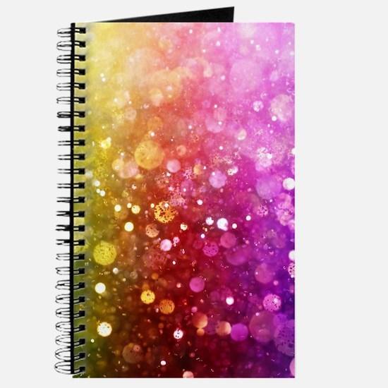 Vibrant Colors Colorful Modern Bokeh Glitt Journal