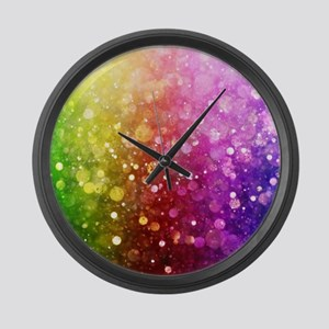 Vibrant Colors Colorful Modern Bo Large Wall Clock