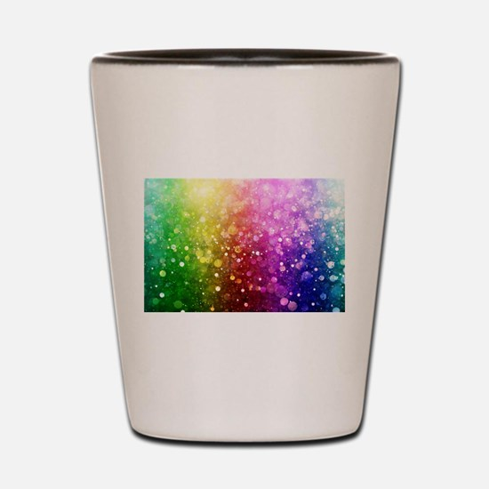 Vibrant Colors Colorful Modern Bokeh Gl Shot Glass
