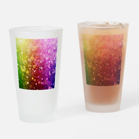 Vibrant Colors Colorful Modern Boke Drinking Glass