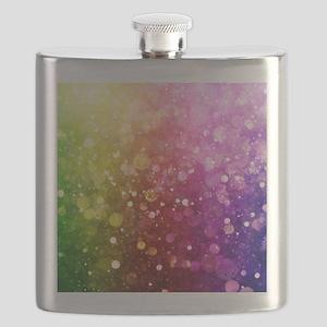 Vibrant Colors Colorful Modern Bokeh Glitter Flask