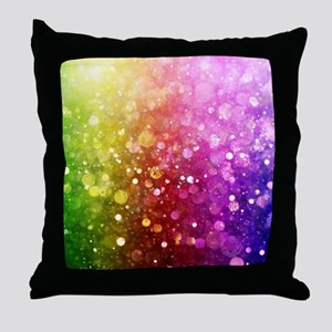 Vibrant Colors Colorful Modern Bokeh Throw Pillow