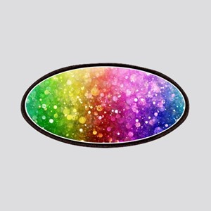 Vibrant Colors Colorful Modern Bokeh Glitter Patch