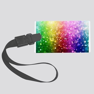 Vibrant Colors Colorful Modern B Large Luggage Tag