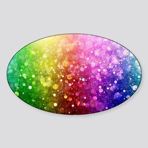 Vibrant Colors Colorful Modern Bokeh Glitt Sticker