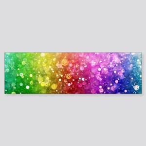 Vibrant Colors Colorful Modern Boke Bumper Sticker