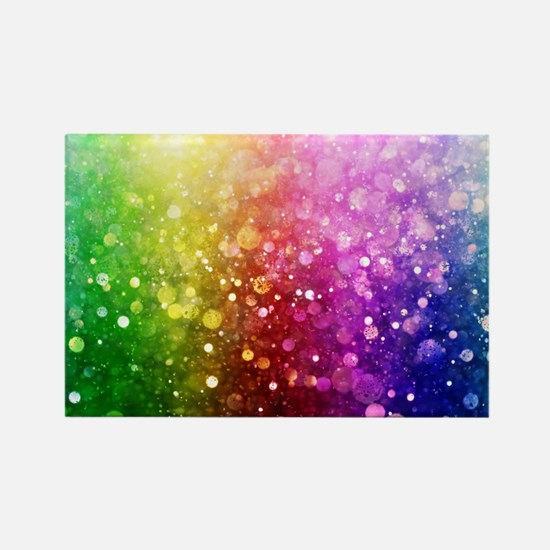 Vibrant Colors Colorful Modern Bokeh Glitt Magnets