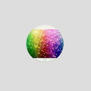 Vibrant Colors Colorful Modern Bokeh G Mini Button