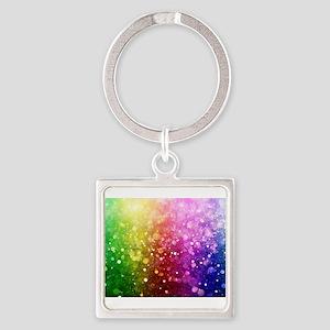 Vibrant Colors Colorful Modern Bokeh Gli Keychains