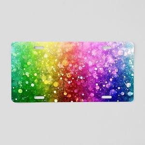 Vibrant Colors Colorful Mod Aluminum License Plate